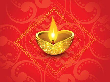 deepawali backdrop: abstract artistic red golden diwali vector illustration