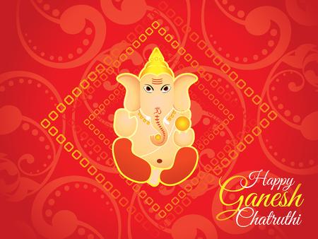 deepawali: abstract artistic red ganesh chaturthi background vector illustration Illustration
