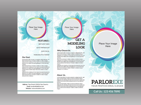 parlor: abstract artistic detailed parlor flyer vector illustration