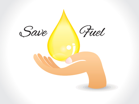 diesel fuel: save fuel background with drop vector illustration Illustration