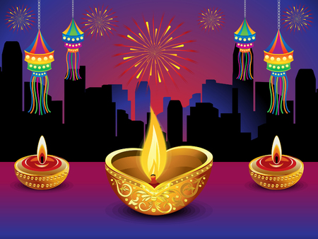 artistic background: artistic detailed diwali night background