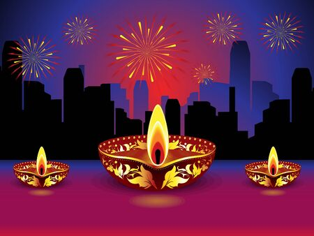 shubh: artistic detailed diwali background