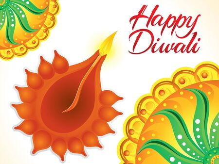 deepawali backdrop: artistic happy diwali background   Illustration