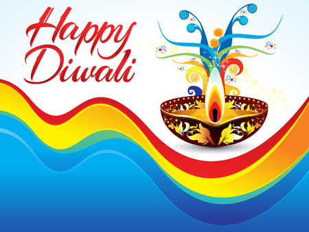 shubh diwali: abstract colorful deepawali background vector illustration Illustration