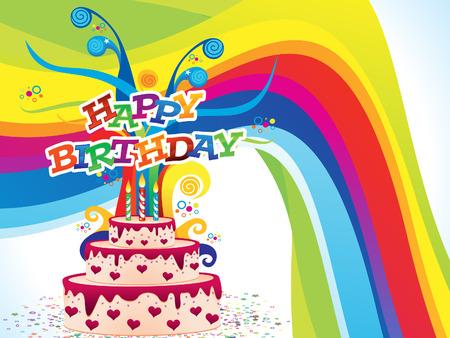 artístico colorido cumpleaños fondo ilustración vectorial