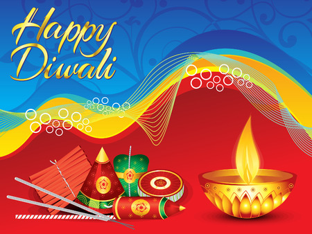 deepawali backdrop: abstract detailed diwali background vector illustration Illustration