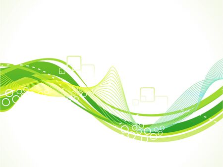 artistic: abstract artistic green wave background vector illustration Illustration