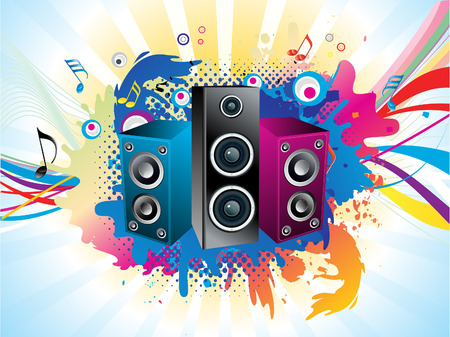 music background: abstract artistic colorful music background vector illustration