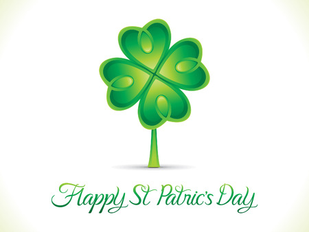 leafed: abstract artistic st patrick day background vector illustration
