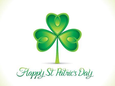 leafed: abstract artistic st patrick day clover vector illustration