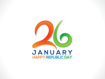 asoka: abstract artistic republic day text vector illustration