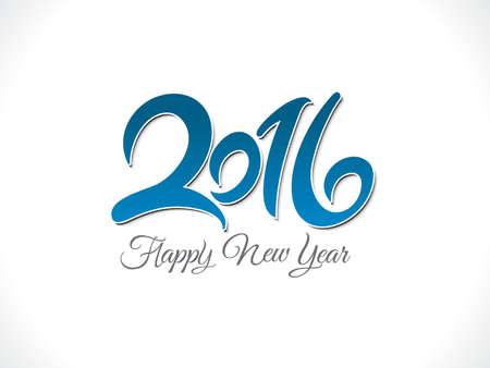almanac: abstract artistic new year text vector illustration