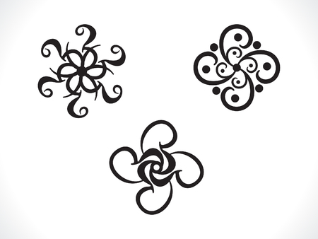 Gothic style: abstract artistic multiple floral shape vector illustration