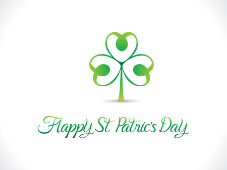 four leafed: abstract artistic st patrick day vector illustration Illustration