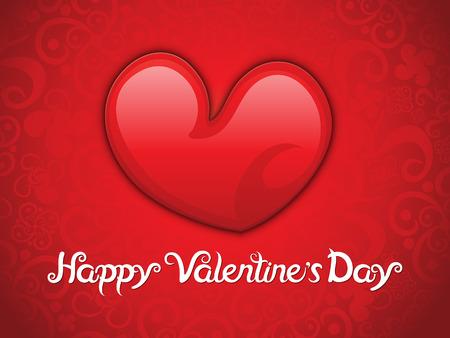 abstract artistic red valentine background vector illustration Illustration