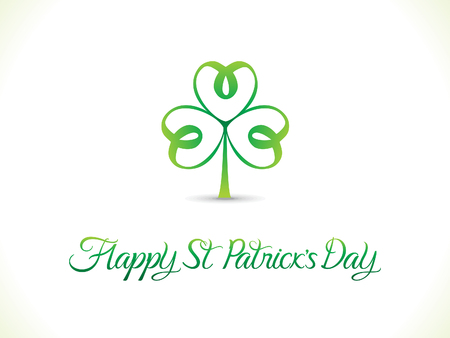 abstract artistic st patrick day clover vector illustration