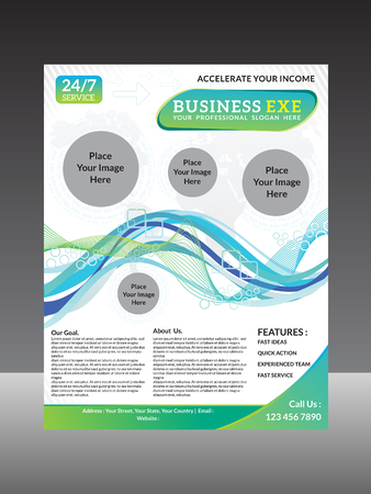 business flyer: detailed business flyer