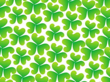 four leafed: abstract artistic st Patrick pattern illustration Illustration