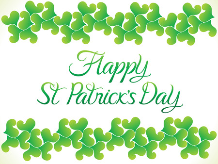 four leafed: abstract st Patrick day background illustration