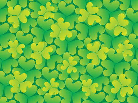 leafed: abstract artistic st Patrick background illustration