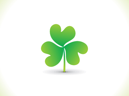 leafed: abstract artistic st Patrick clover illustration Illustration