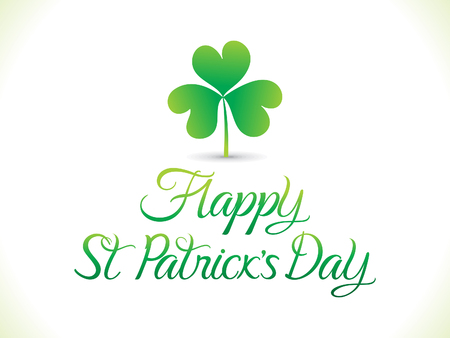 leafed: abstract artistic st patrick clover vector illustration