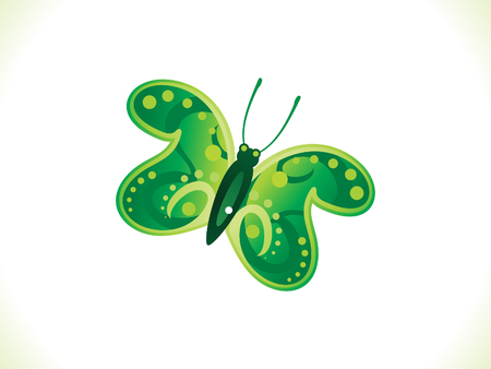 green butterfly: abstract artistic green butterfly vector illustration