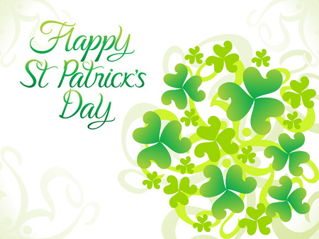 leafed: abstract artistic st patrick background vector illustration