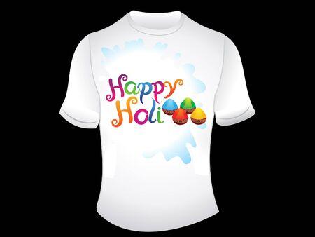 dhulandi: abstract happy holi tshirt vector illustration Illustration