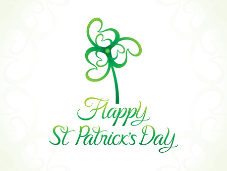 leafed: abstract artistic st patricks day clover vector illustration