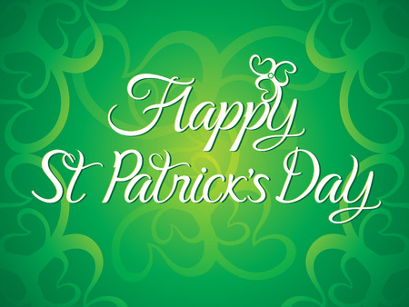 leafed: abstract artistic green st patricks day background vector illustration Illustration