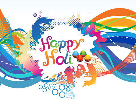 thali: abstract colorful artistic holi background vector illustration