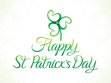 leafed: abstract artistic green st patricks day clover vector illustration