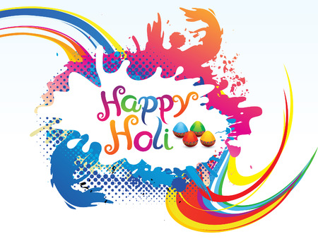 thali: abstract artistic colorful holi background illustration