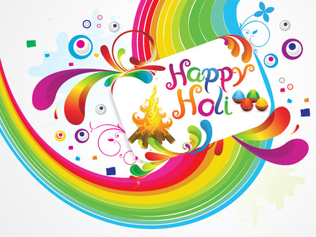 thali: abstract artistic happy holiday background illustration