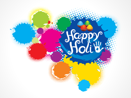 thali: abstract artistic colorful holi splash vector illustration