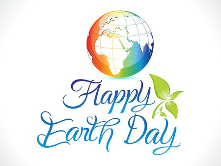 abstract artistic colorul earth day background illustration