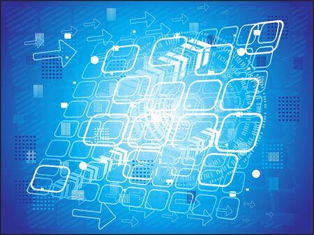 astratto blu illustrazione digitale sfondo