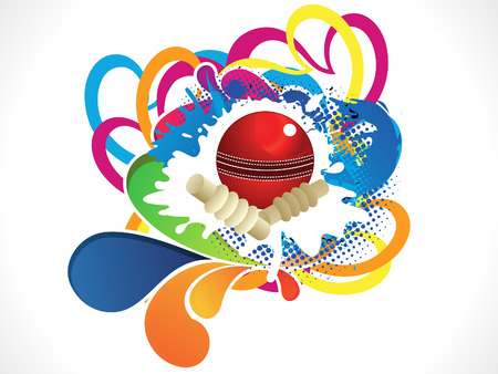 fast pitch: abstract artistic colorful cricket ball