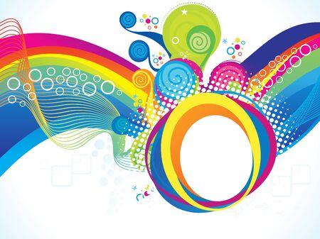rainbow abstract: abstract artistic rainbow wave explode