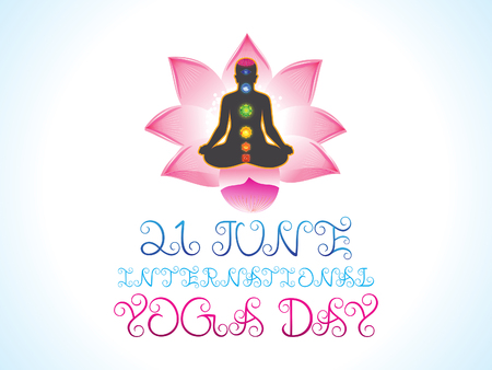 energy healing: abstract artistic yoga day background illustration