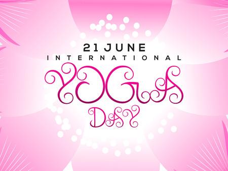 energy healing: international yoga day background illustration