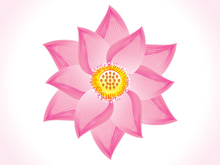 artistic flower: abstract artistic lotus flower illustration Illustration