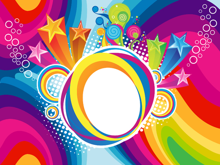 abstract rainbow explode background