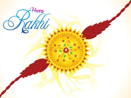 raksha: abstract artistic raksha bandhan illustration Illustration
