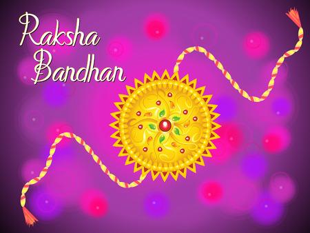 raksha: abstract artistic raksha bandhan background illustration Illustration