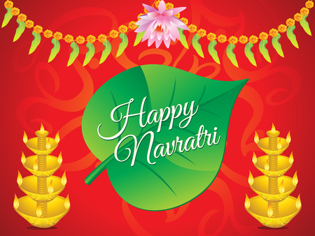 mangal: abstract artistic navratri background illustration