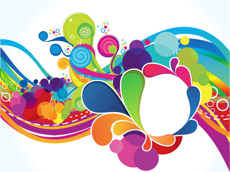 curve creative: abstract artistic colorful circle explode illustration Illustration