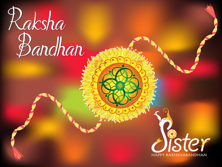 abstract colorful raksha bandhan background illustration