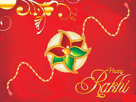 abstract artistic red raksha bandhan background illustration
